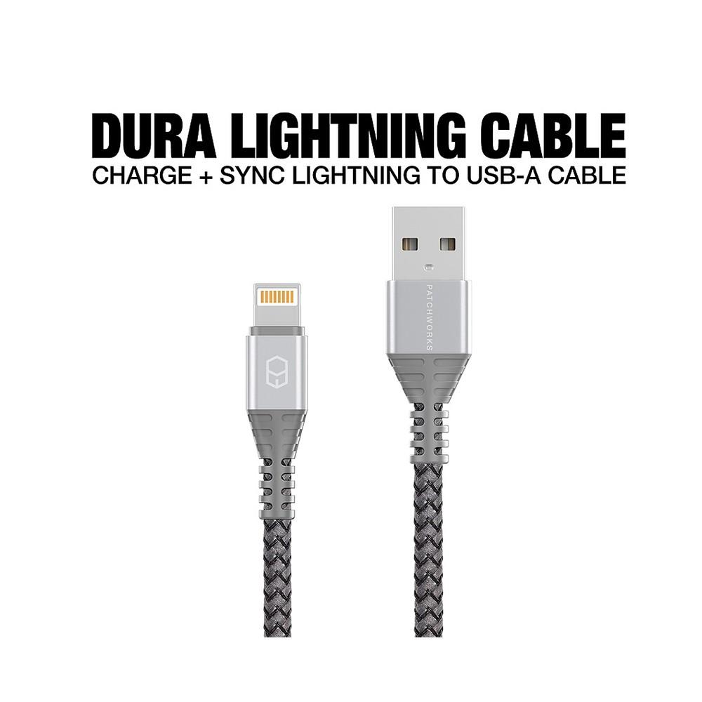 כבל USB PATCHWORKS DURA LIGHTNING לאייפון