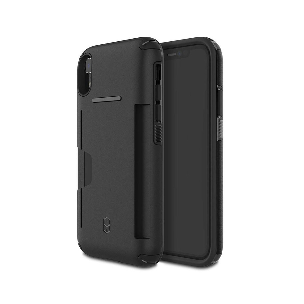 כיסוי שחור IPHONE XR - PATCHWORKS LEVEL WALLET