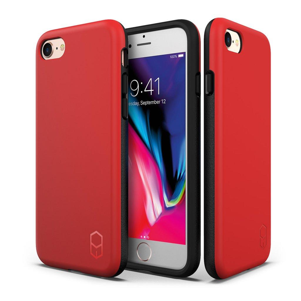 כיסוי אדום IPHONE 8 / 7 - PATCHWORKS LEVEL ITG
