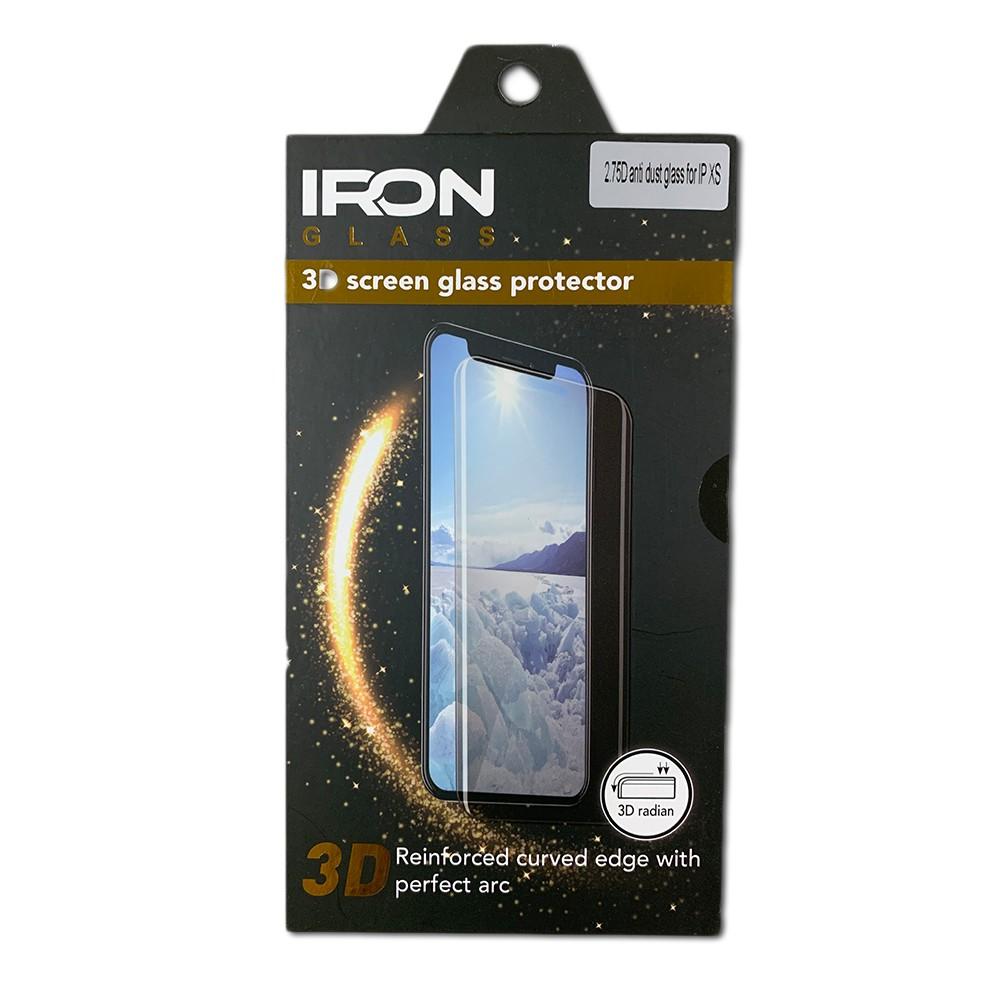 מגן זכוכית שחור IRON 2.75D - IPHONE 7/8